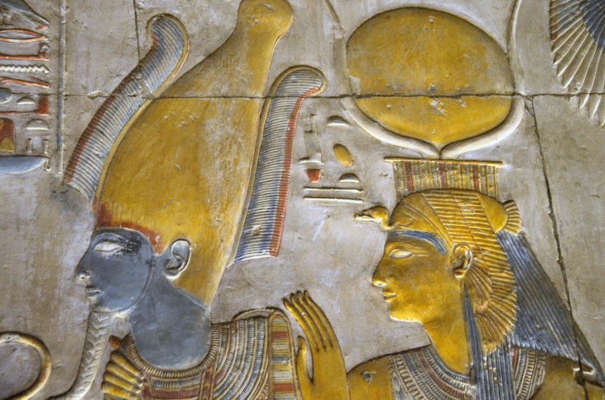 Isis and Osiris Relief