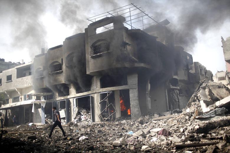 A scene from Gaza