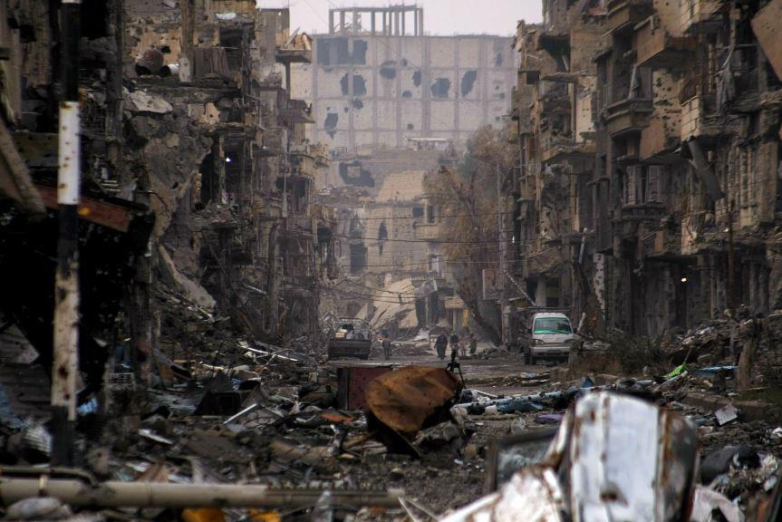 A scene from Deir Ezzor City, Syria, now under ISIS control. AFP PHOTO / AHMAD ABOUD
