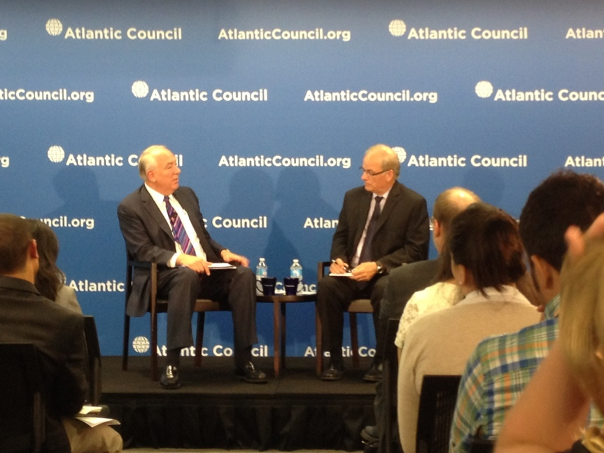 Ambassador Rapp and Frederic Hoff at the Atlantic Council.