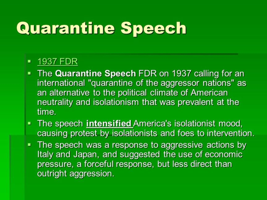 """A historical tidbit that showcases the """"effectiveness"""" of the Quarantine Mentality."""