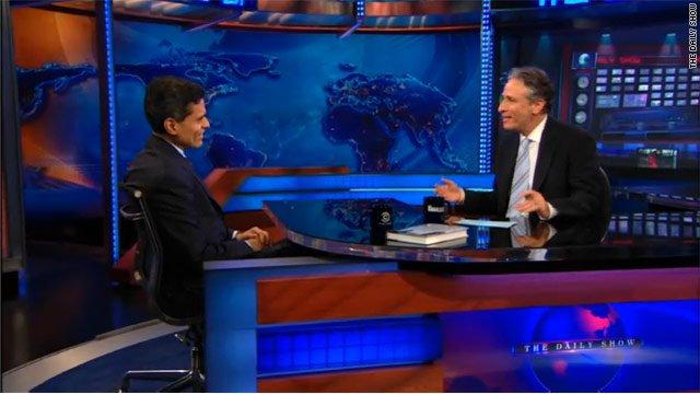 Jon Stewart and Fareed Zakariya, 2011