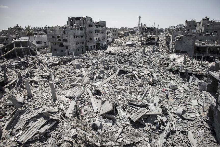 Scene from the havoc in Gaza.