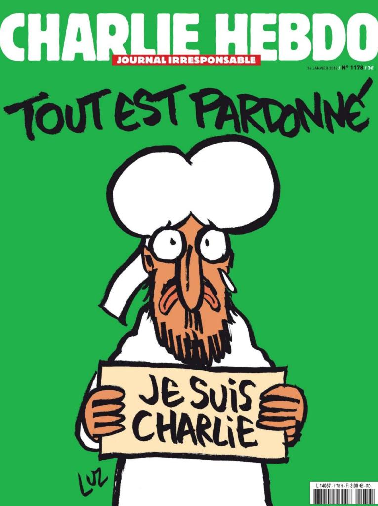 Charlie Hebdo's new cover image.