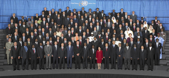 The more than 170 world leaders who attended the World Summit at UN Headquarters in New York in September 2005. UN Photo/ Eskinder Debebe