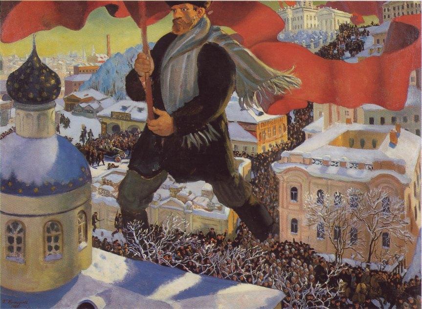 Bolshevik (1920), by Boris Kustodiev